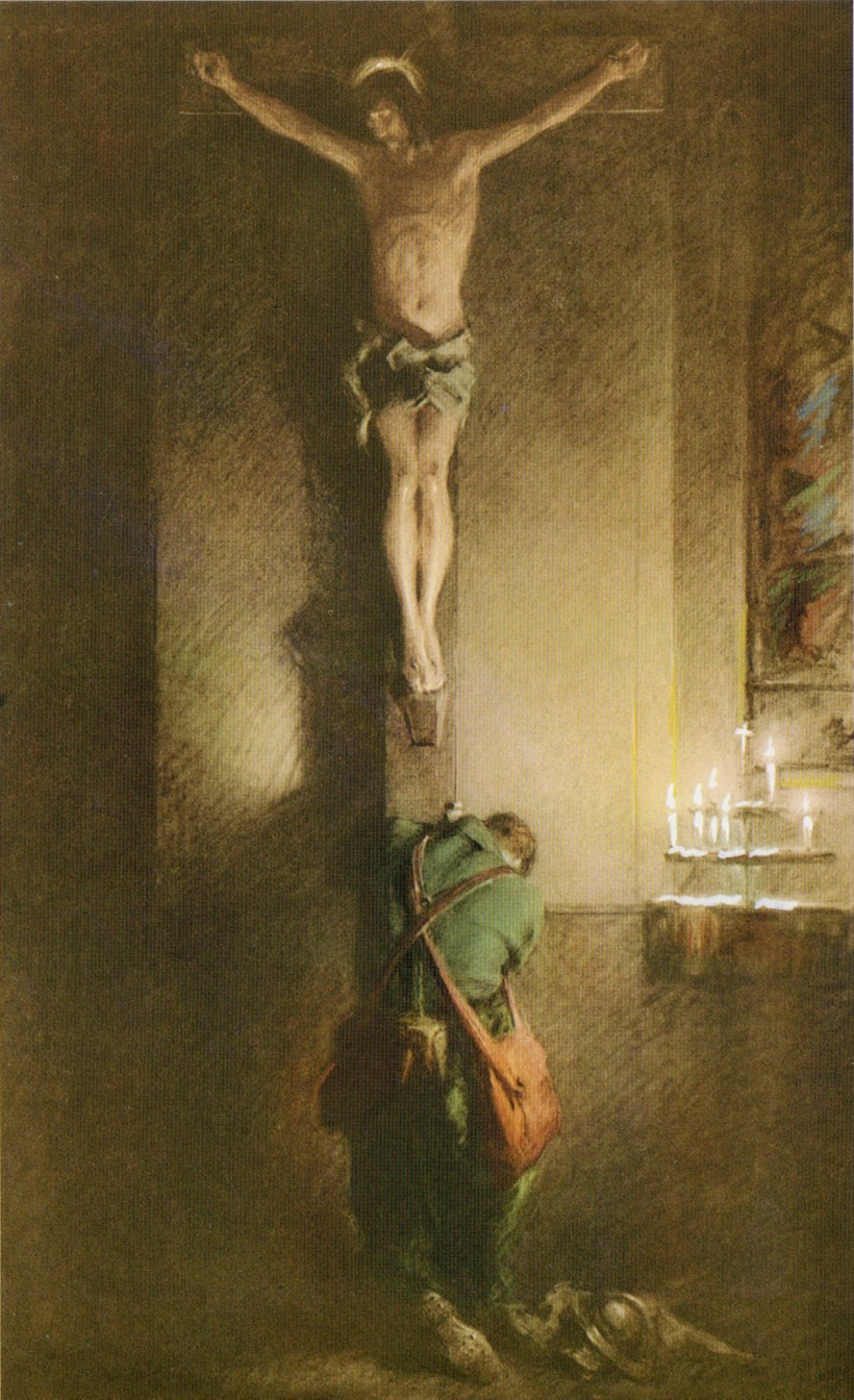 Return_Crucifix_card_painting